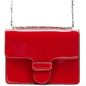 Forever 21 red patent crossbody